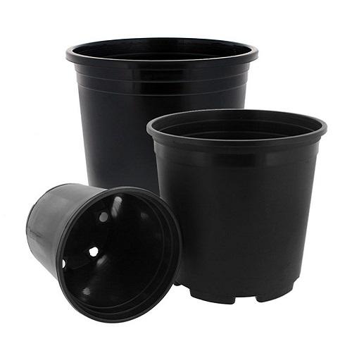 خرید گلدان پلاستیکی سیاه
